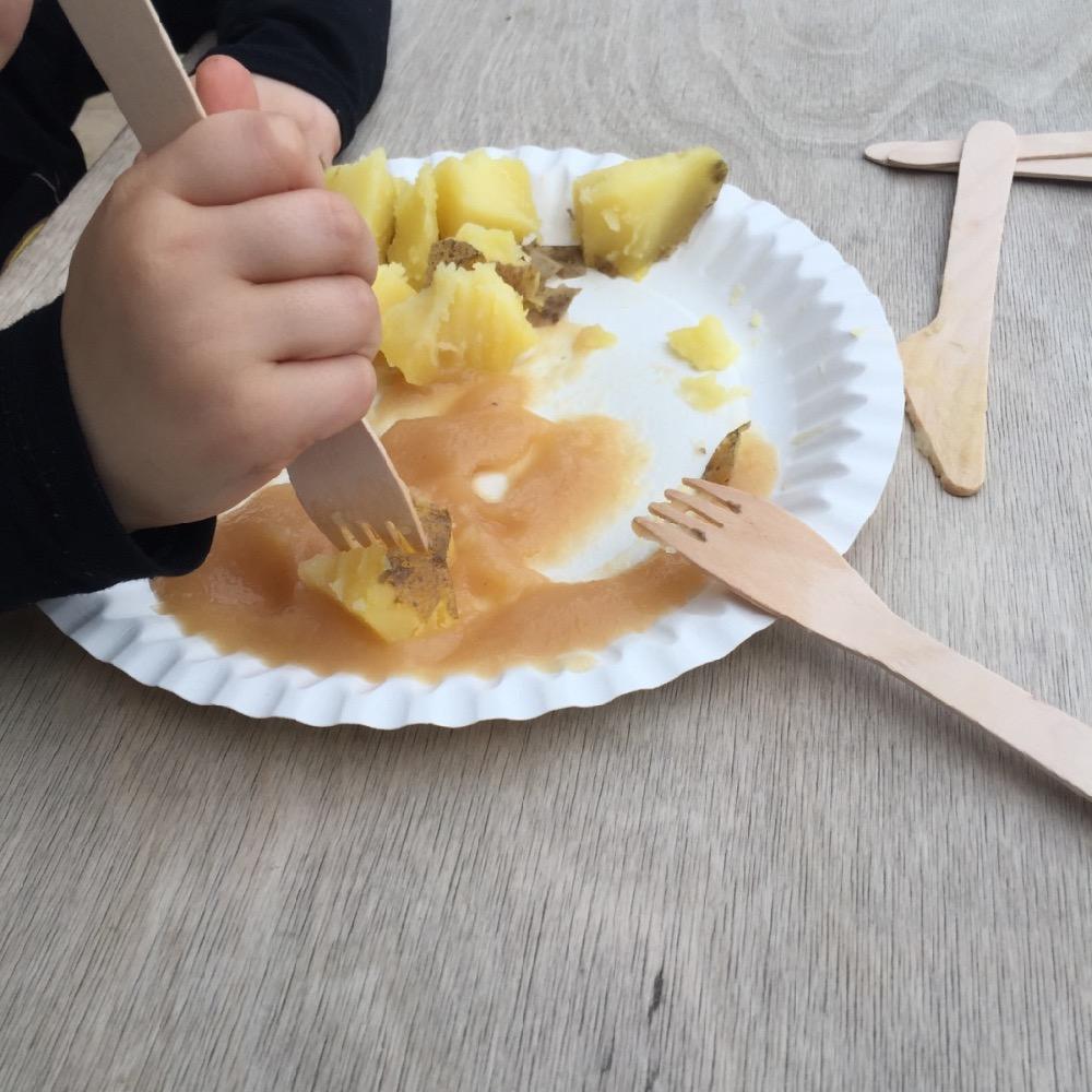 Pellkartoffeln mit Apfelmus - einfach und lecker