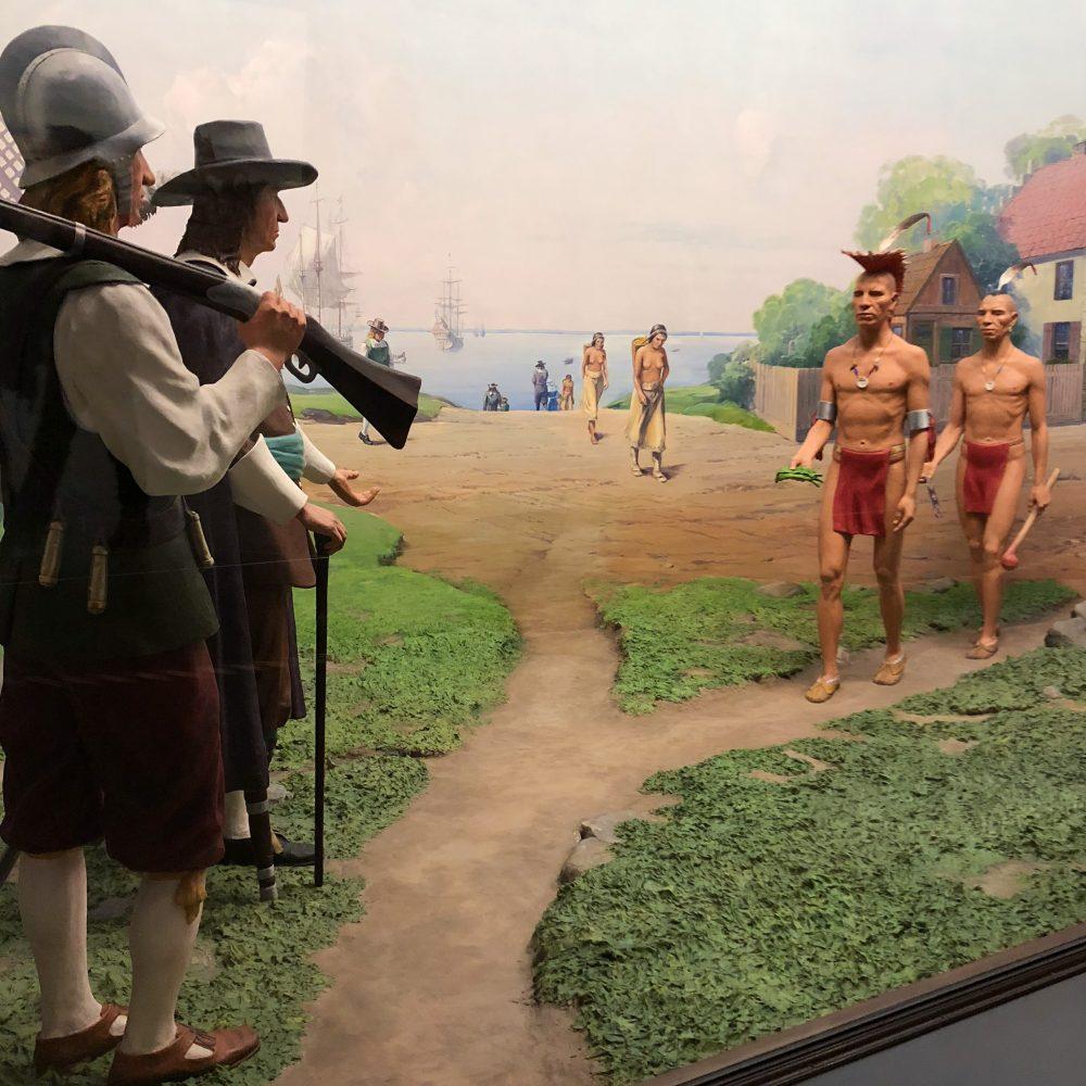 """Diorama zum Thema """"Manhattan wie es früher war"""" im Naturkundemuseum"""