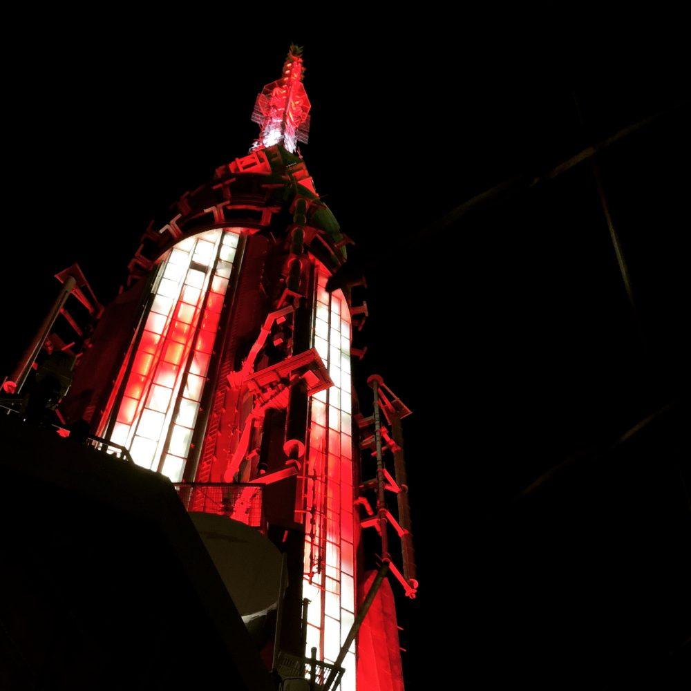 Blick nach oben: Spitze des Empire State Building