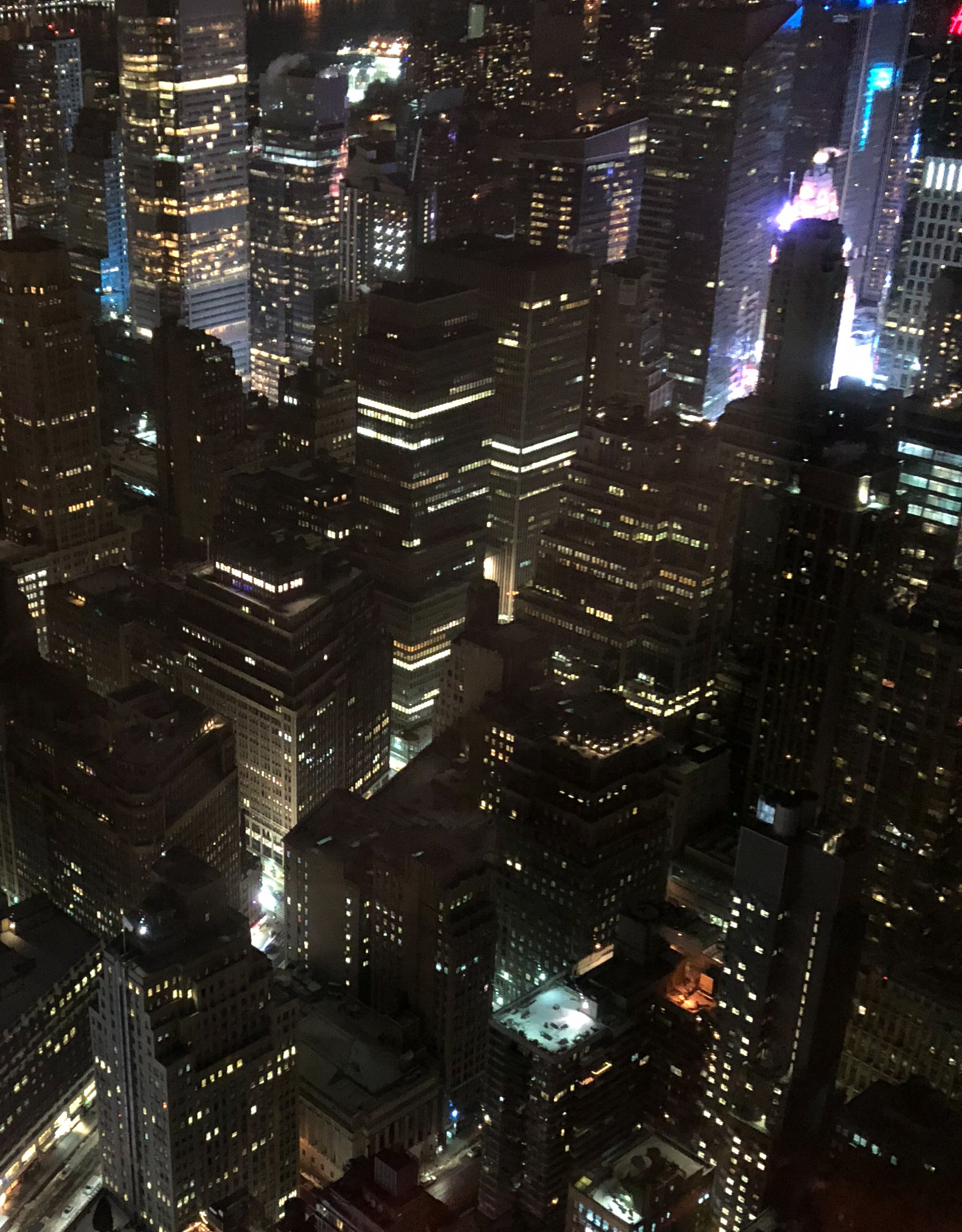 Empire State Building – Blick auf den Times Square